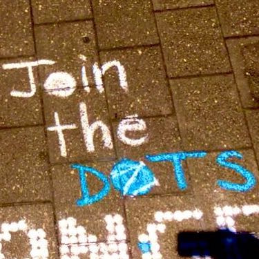 Example: Join The DOTS on pavers (Vivid chalk)