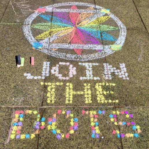Example: Join The DOTS on pavers (geometric chalk)