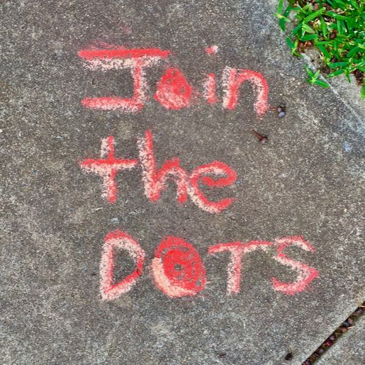 Example: Join The DOTS on pathway (red chalk)