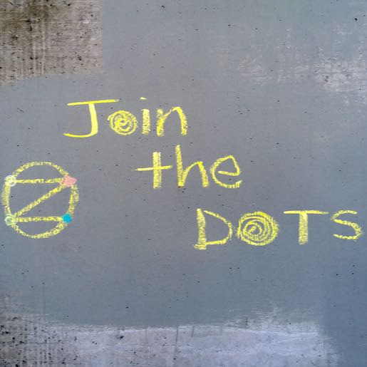 Example: Join The DOTS on wall (Yellow chalk)