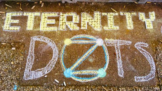 Example: 'Eternity DOTS' using chalk dots.
