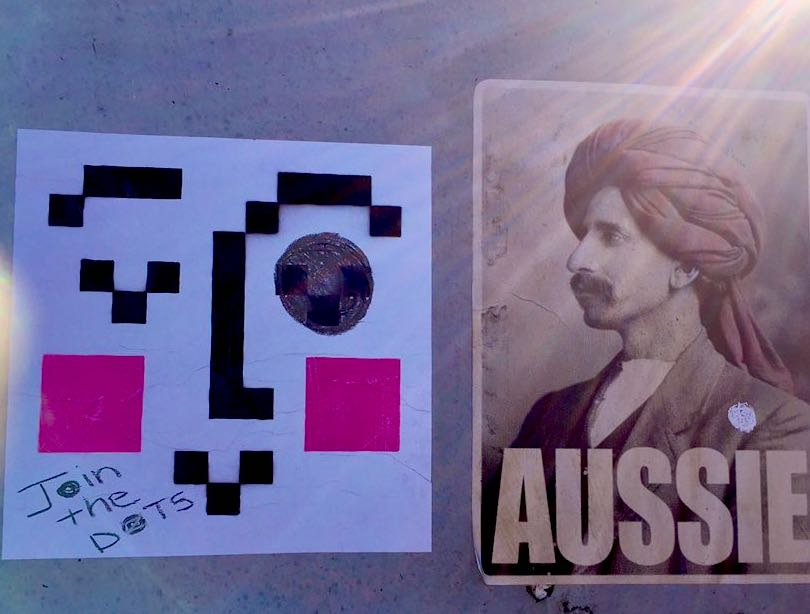 Example: 'Aussie' with chalk dots