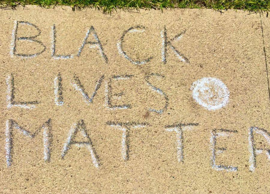 Example: 'Black Lives Matter' in chalk