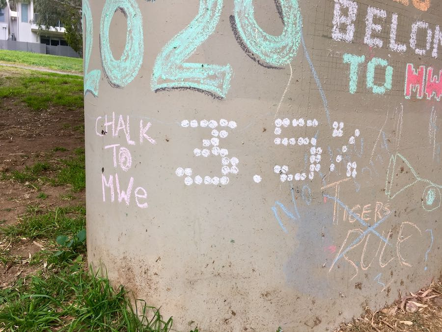 Example: 3.5% in chalk on pillar