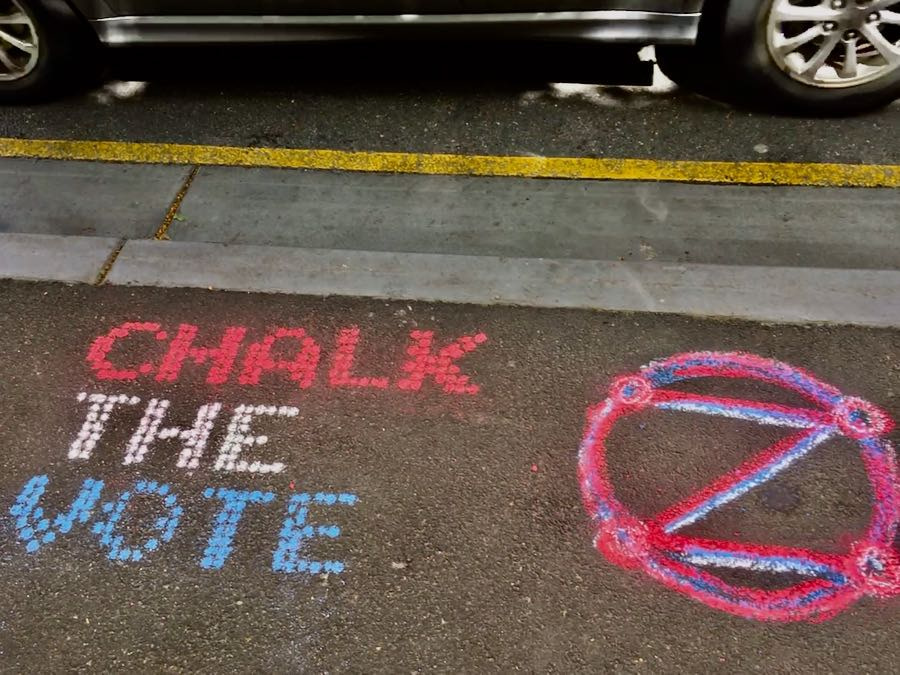 Example: 'Chalk the Vote' in Chalk