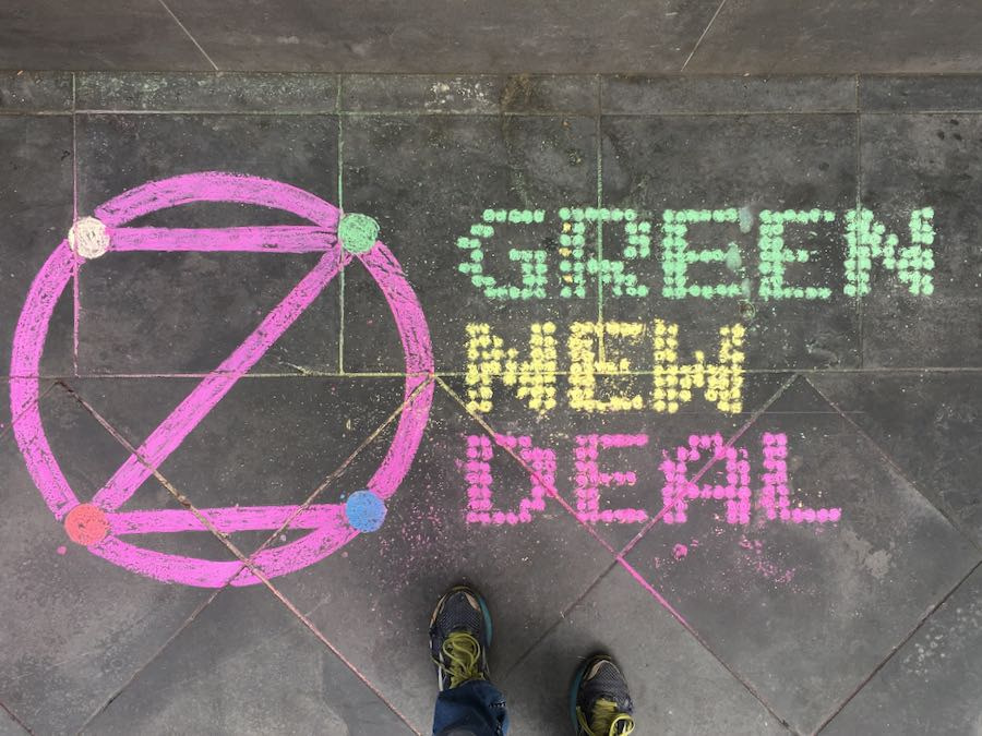 Example: 'Green New Deal' in Chalk